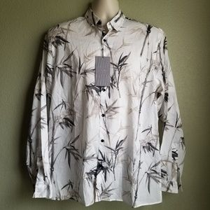 Zara Man floral button shirt